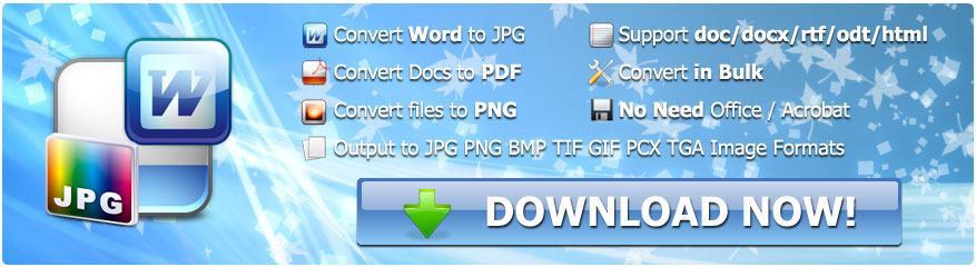 Batch WORD to JPG Converter